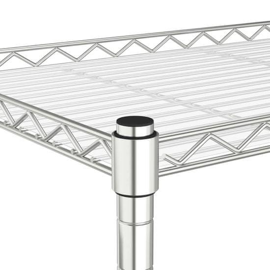 shumee 2-nadstropno stojalo za mikrovalovno pečico 60x30x60 cm krom