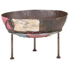 Vidaxl Pestrobarevná rustikální mísa na oheň Ø 60 cm železo