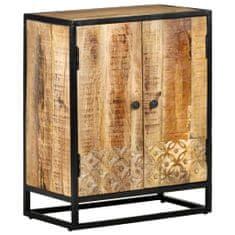 shumee Ručne vyrezávaná komoda 60x35x75 cm masívne mangovníkové drevo