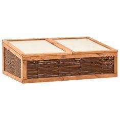 shumee Inspekt, 120x80x45 cm, lite drewno sosnowe i wiklina