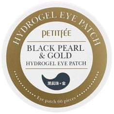 Petitfée Hydrogélová maska na očné okolie s čiernymi perlami Black Pearl & Gold (Hydrogel Eye Patch) 60 ks