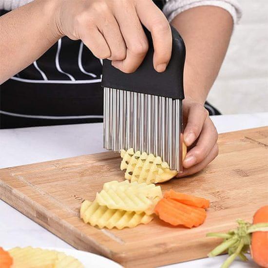 Netscroll Rezalnik sadja in zelenjave iz nerjavečega jekla, ChipsCutter