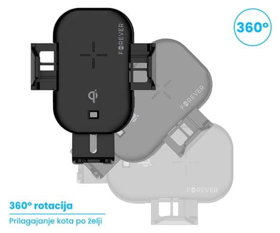 Forever ACH15W nosilec za telefon, avtomobilski, Qi brezžično polnjenje