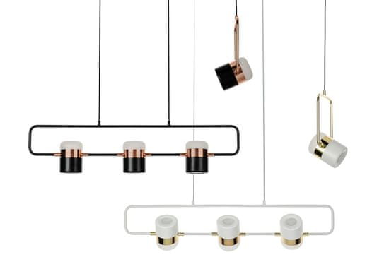 shumee Lampa wisząca BLINK 1 biała - LED, metal