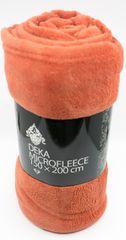 QUENTIN Deka mikrofleece 150x200 cm terra