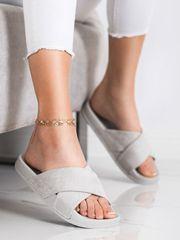 Vinceza Női papucs 70503, szürke és ezüst árnyalat, 38