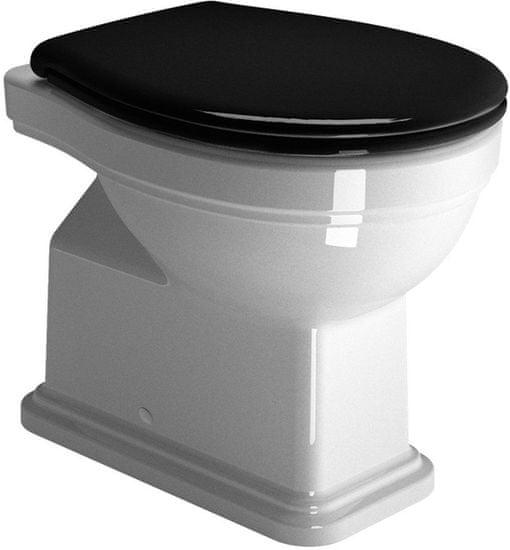 GSI CERAMICA Classic wc sedátko, soft close, čierna/chróm (MSC87CN20)