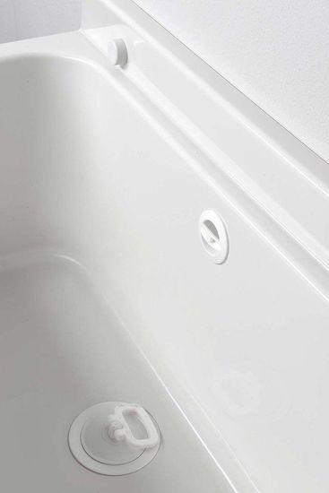 AQUALINE Závesná výlevka 55x34cm, plast, biela (PI5055)