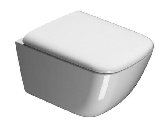 GSI CERAMICA Sand wc sedátko, biela/chróm (MS9011)