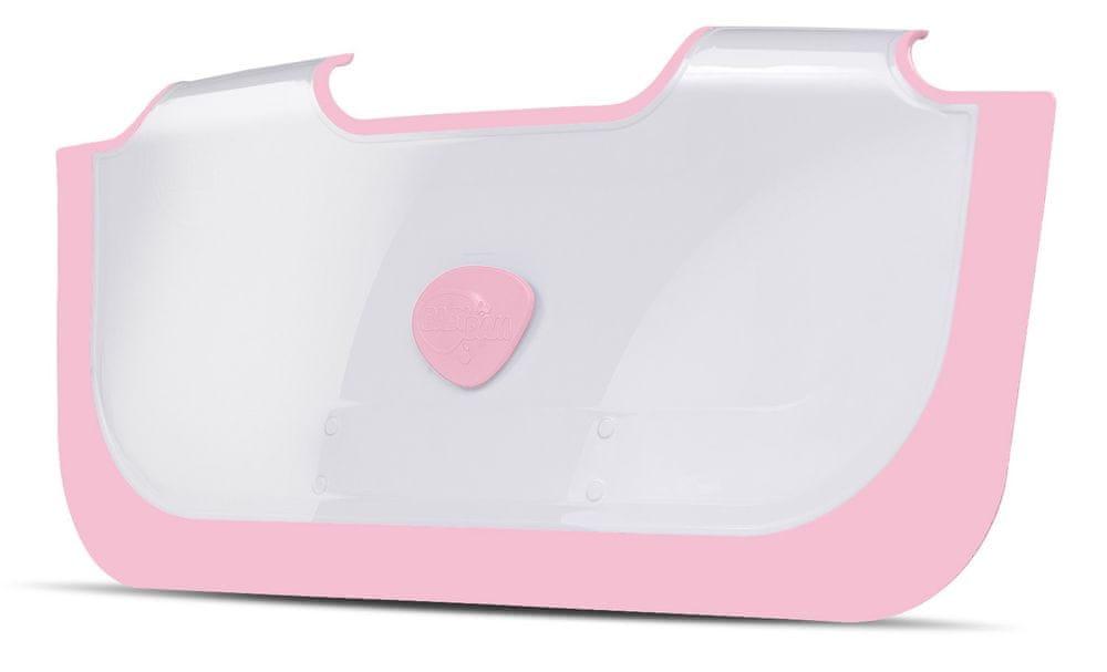 BabyDam Přepážka do vany - Růžová