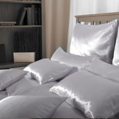 Naturaland Velika Svilena posteljnina SVETLO VIJOLIČNA - Saten svila / 28 momme (mm), na gumbe, 180x200