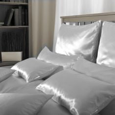 Naturaland Velika Svilena posteljnina SVETLO MODRA 1 - Saten svila / 28 momme (mm), na gumbe, 200x200