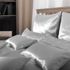 Naturaland Velika Svilena posteljnina SREBRNA 2 - Saten svila / 28 momme (mm), na zadrgo, 200x200