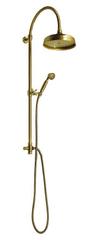 Reitano Rubinetteria Antea sprchový stĺp k napojeniu na batériu, hlavová a ručná sprcha, bronz (SET036)