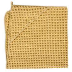 Ceba Baby ręcznik z kapturem frotte Waffle Line 100 x 100 Cream Gold Ceba