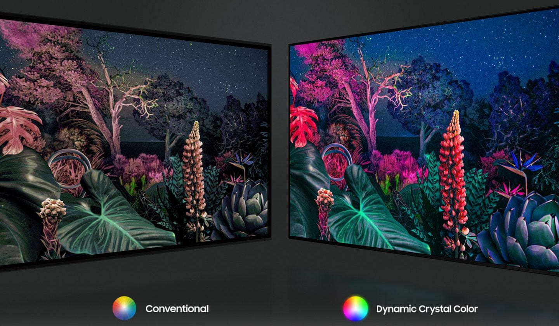 samsung tv televízor edge led 4K 2021 dynamic crystal color