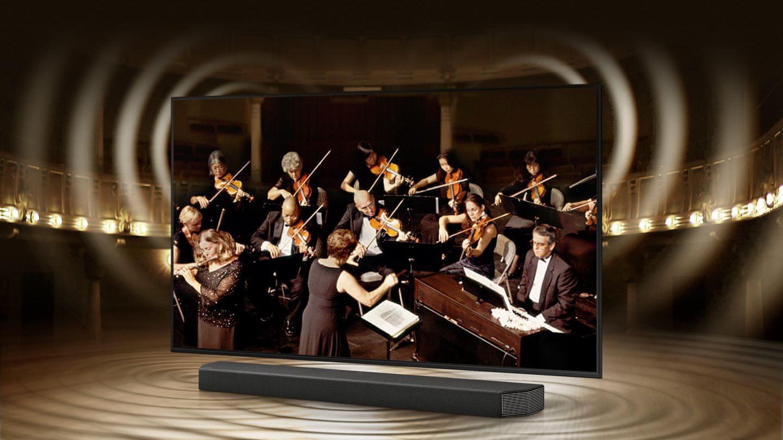 samsung tv televízor edge led 4K 2021 q-symphony soundbar