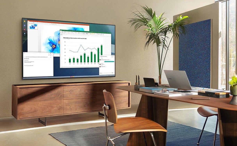 samsung tv televízor edge led 2021 4K home office online výučba bezdrôtové pripojenie
