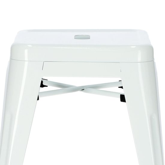 shumee Parížska biela stolička inšpirovaná Tolixom