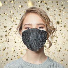 shumee Črna bleščeča maska