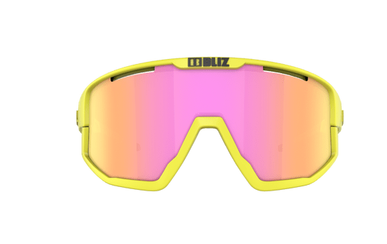 Bliz Fusion Matt Neon Yellow Brown w Purple multi - 52105-64