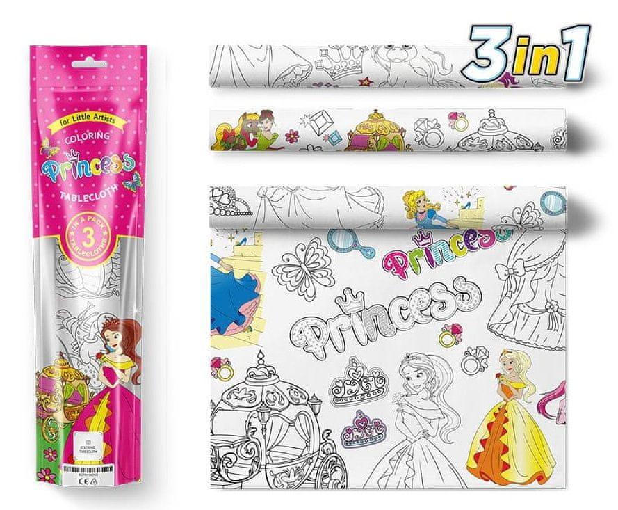 PEXI Malovací ubrusy 3 ks - Princezny (Princesses)