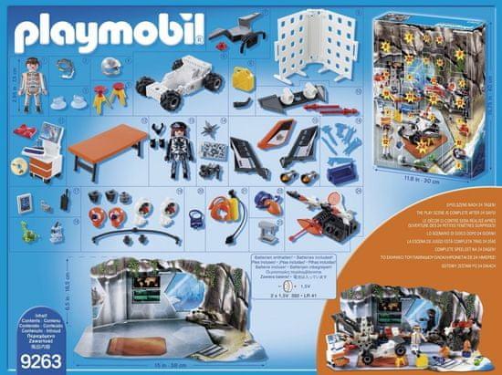 Playmobil Adventný kalendár Top Agenti - dielňa