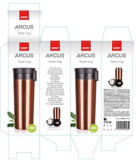 Banquet kubek podróżny o podwójnych ściankach ARCUS 450 ml