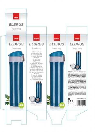 Banquet Elbrus potovalna termovka, 450 ml