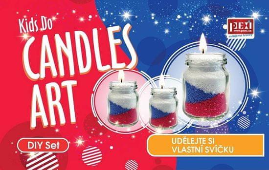 PEXI CANDLES ART - Pieskové sviečky 3 ks České