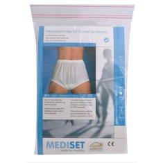 Mediset Inkontinenční pánské kalhotky s širokým měkkým gumovým pasem a absolutně nepropustnou PU - fólií po (Velikost 6)
