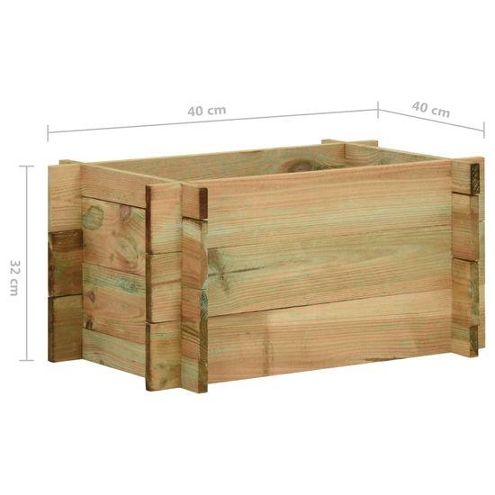 shumee Skrzynia ogrodowa, impregnowane drewno sosnowe, 40 cm