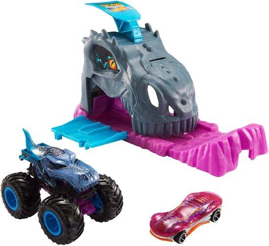Hot Wheels Monster Trucks verseny szett, Mega-Wrex