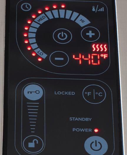 KENYON Frontier IntelliKEN prenosni električni žar s pokrovom za notranjo in zunanjo uporabo