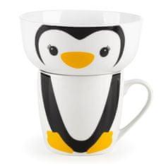 Rosmarino otroški porcelanast komplet za zajtrk, 2-delni, pingvin