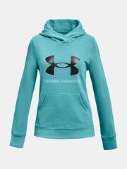 Under Armour Pulover Rival Fleece Logo Hoodie-BLU S