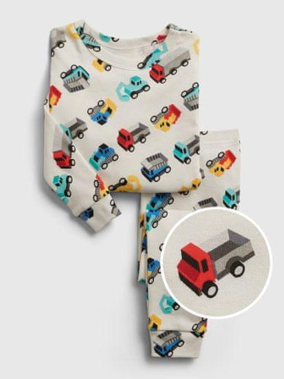 Gap Otroške pyžamo Dojenčki organic truck graphic pj set