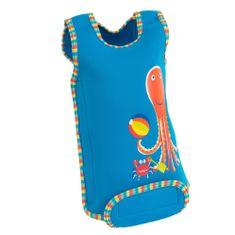 KONFIDENCE Neoprenska obleka za dojenčke, bež/modra, za 1 - 2 leti