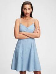 Gap Obleka fit & flare cami denim dress 4