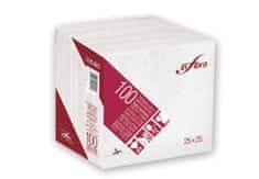 INFIBRA Papírové ubrousky 2vrstvy 25x25cm - I0318
