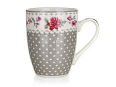 Banquet Rosa keramična skodelica, siva, 340 ml