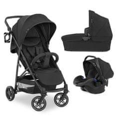 Hauck Rapid 4R Trioset kombinirani otroški voziček 2021, črn