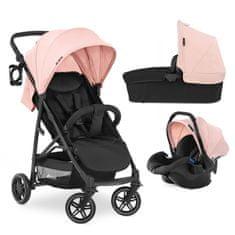 Hauck Rapid 4R Trioset kombinirani otroški voziček 2021, roza