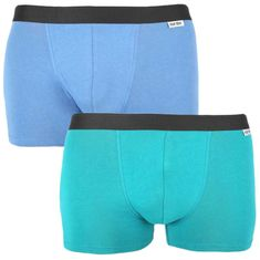 Nur Der 2PACK pánské boxerky vícebarevné (827756 - mintg/blau) - velikost M