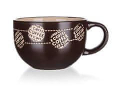 Banquet Coffee jumbo keramična skodelica, rjava, 660 ml