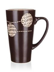 Banquet Coffee visoka keramična skodelica, temno rjava, 450 ml