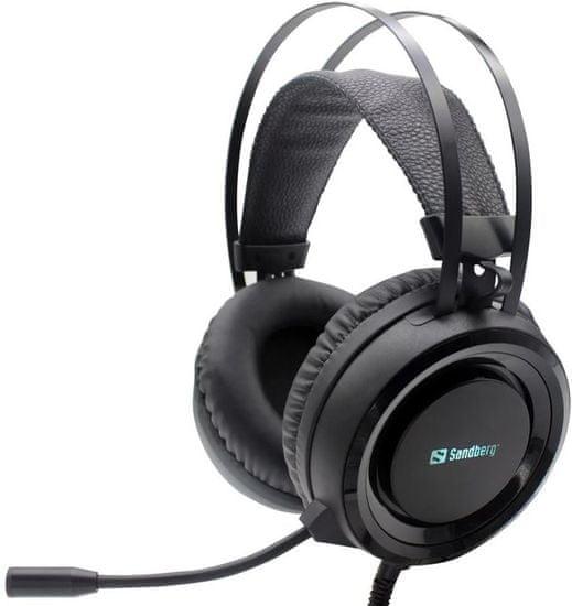 Sandberg Dominator Headset gaming slušalke z mikrofonom, črne