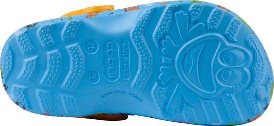 Coqui Little Frog Lt. blue/Lt. orange dino + amulet fantovski natikači