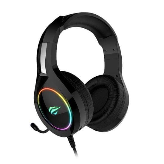 Havit Gamenote H2232d RGB gaming slušalke 3.5mm, črna-rdeča