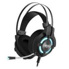 Havit Gamenote H2212U USB gaming slušalke, črna